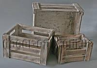 Кашпо ящики из дерева 3 шт 141442