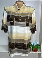 Женская трикотажная блуза в коричневых тонах большой размер