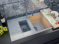 """Мойка кухонная Moko Cristallo, модель """"MILANO""""  780*500,  искусственный мрамор TecMar"""