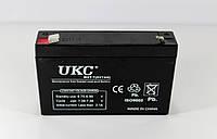 Аккумулятор BATTERY 6V 7A UKC (20), фото 1
