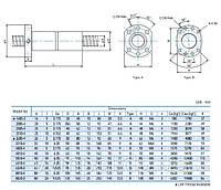 Шарико-винтовые пары (винт + гайка) GTEN  Type: FDU (DIN69051)