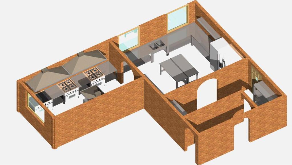 Проект кухни в 3D изображении