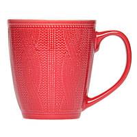 Чашка керамическая с вязанным узором 290 мл, от 10 штук