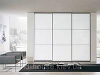 Шкаф-купе белый стеклянный Луиджи