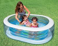 Детский надувной бассейн Intex 57482 «Нежность» овальный, 238л, 2,72кг, 163-107-46см