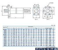 Шарико-винтовые пары (винт + гайка) GTEN  Type: FDI