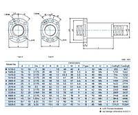 Шарико-винтовые пары (винт + гайка) GTEN  Type: FSC (DIN69051)