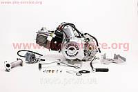 Двигатель мопедный в сборе 110куб (ALPHA)