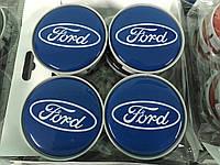 Ford Fusion 2002+ гг. Колпачки в титановые диски 55 мм V5 (4 шт)