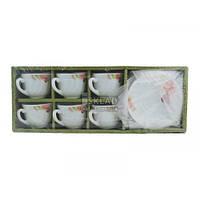 Чайный набор Interos 12 пр стеклокерамика Орхидея КH-112