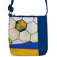 Стильная сумка синего цвета с принтом футбол