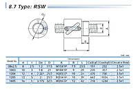Шарико-винтовые пары (винт + гайка) GTEN Type: RSW