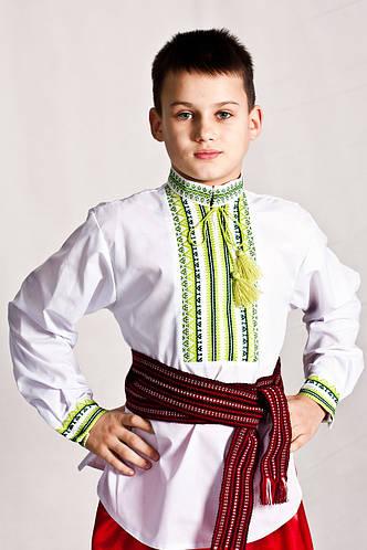 Вишиванка дитячас геометрическим узором Андрійко