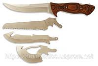 4 в 1, ножи разделочный, мачете, пила и топорик для костей