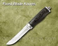Нож охотничий. Рукоять -  дерево, металл.