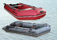 Резиновая, гребная надувная рыбацкая лодка ANVI 260 M 2 местная Камуфляжный цвет.