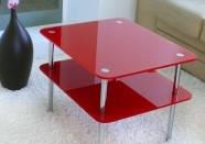 Журнальний скляний столик Экси 2