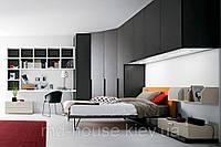 Модульный шкаф для спальни черный Блог