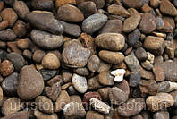Галька коричневая мелкая