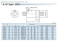 Шарико-винтовые пары (винт + гайка) GTEN  Type: RSU