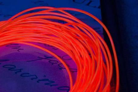 Электролюминесцентный провод (холодный неон) III поколение, диаметр- 2.6мм., цвет- красный, фото 2