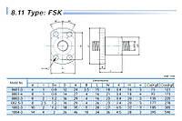 Шарико-винтовые пары (винт + гайка) GTEN  Type: FSK