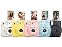 Цифровий фотоапарат Fuji Instax Mini 8 (жовтий, фіолетовий, голубий)