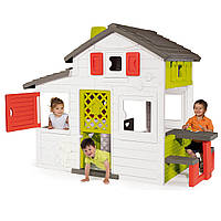 Игровые площадки «Smoby» (810200) домик для друзей  с чердаком и летней кухней