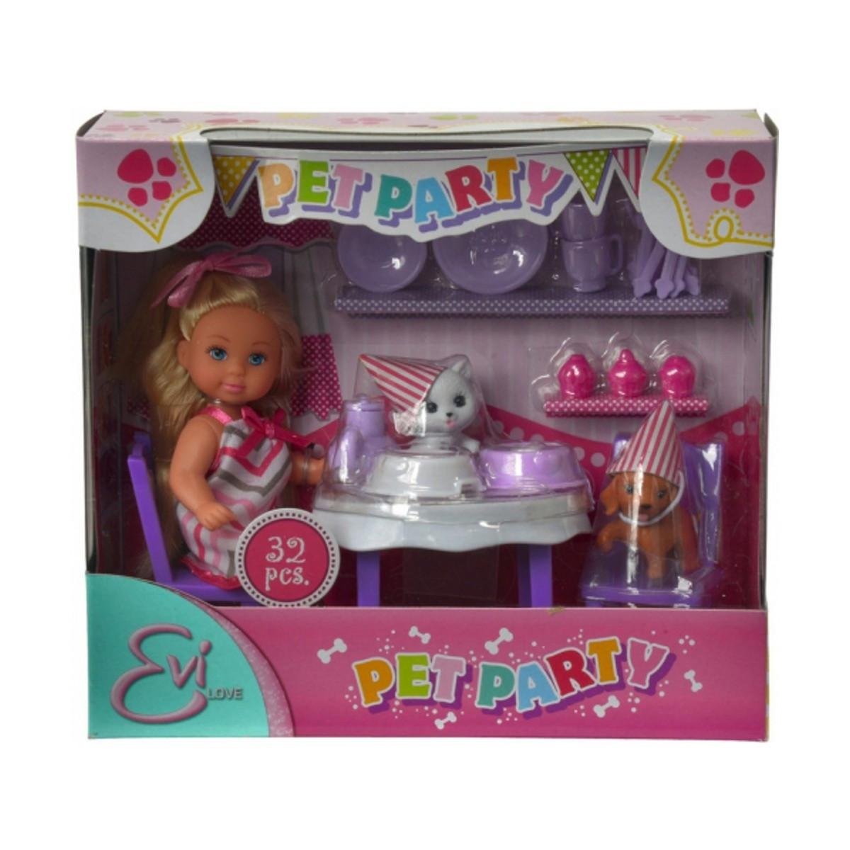 Куклы и пупсы «Simba» (5732831) Эви Вечеринка для домашних любимцев, со сладостями и аксессуарами