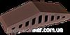 Парапет кришка клінкерна на паркан Коричневий натура (03), фото 2
