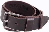 Брендовый кожаный мужской ремень DOVHANI SP999-13 ДхШ: 130х4 см, коричневый