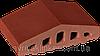 Парапет крышка клинкерная на забор Нота цинамона (06)