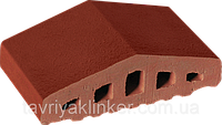 Парапет крышка клинкерная на забор Нота цинамона (06), фото 1