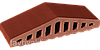 Парапет крышка клинкерная на забор Нота цинамона (06), фото 2