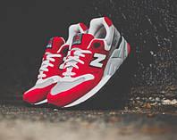 Мужские кроссовки New Balance M999 (Нью Бэлэнс) красно-белые