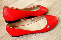 """Балетки """"Классика-Red"""" Цвет: Красный"""