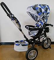Детский трехколесный велосипед коляска Trike, надувные колеса
