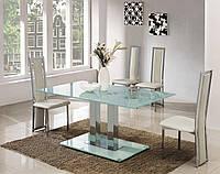 Стол обеденный Аврора, столешница из закаленного стекла толщиной 12 мм, 130х80см, белый