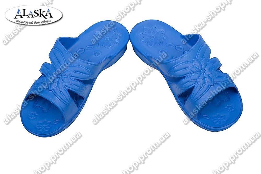 Женские шлепанцы синие (Код: Звезда паяс)