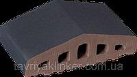 Парапет крышка клинкерная на забор Полярная ночь (08), фото 1