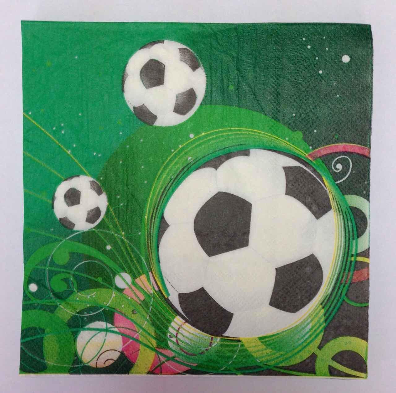 Салфетки футбол, футбольная вечеринка 10шт