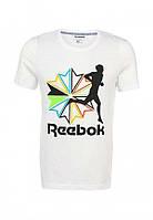 Мужская футболка белая с принтом рибок,Reebok