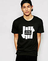 fd8f8e66c1088 Мужская длинная зеленая ассиметричная футболка. Promo. Мужская стильная  футболка c принтом черная