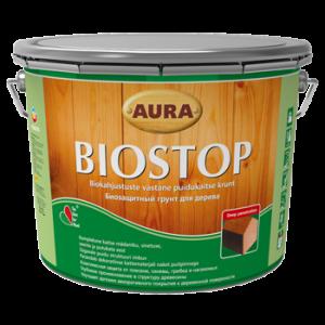 """Aura Wood Biostop – Биозащитный грунт для древесины 9л - Color-City """"Самые Низкие Цены на Стройматериалы""""  в Одессе"""