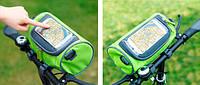 Сумка-органайзер на руль велосипеда. Салатовый