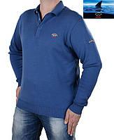 Брендовый трикотажный мужской свитер  Paul & Shark indigo