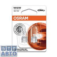 Автолампа Osram W5W 12V W2,1X9,5D (2ШТ. BLISTER)