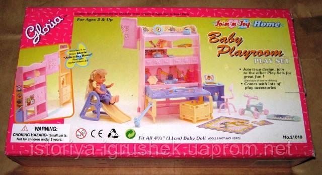 Кукольная мебель Глория Gloria 21019 Детская игровая комната