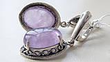 Серебряные серьги с Аметистом, фото 3