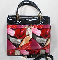 Стильная каркасная разноцветная сумка для деловой женщины